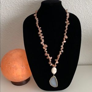 Gemstone necklace New from BARSE 28-32 inch long